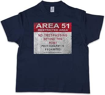 Urban Backwoods Area 51 Vintage Logo Sign Niños Chicos Kids T-Shirt