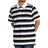 edf4a721838e4 ポロシャツ メンズ 半袖 鹿の子 ボーダー ブランド GOODYEAR グッドイヤー 紳士 M L LL