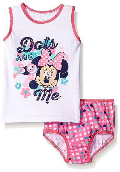 5d62bef81c Amazon.com  Disney Girls  Minnie Mouse Underwear and Tank Set  Clothing