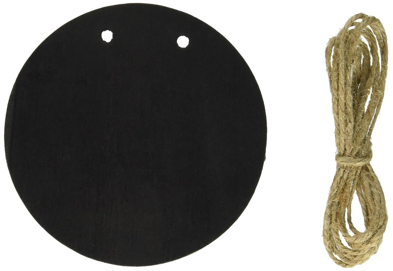 Darice 9190-957CHK, 5 Piece Chalkboard Wood Banner - Circle
