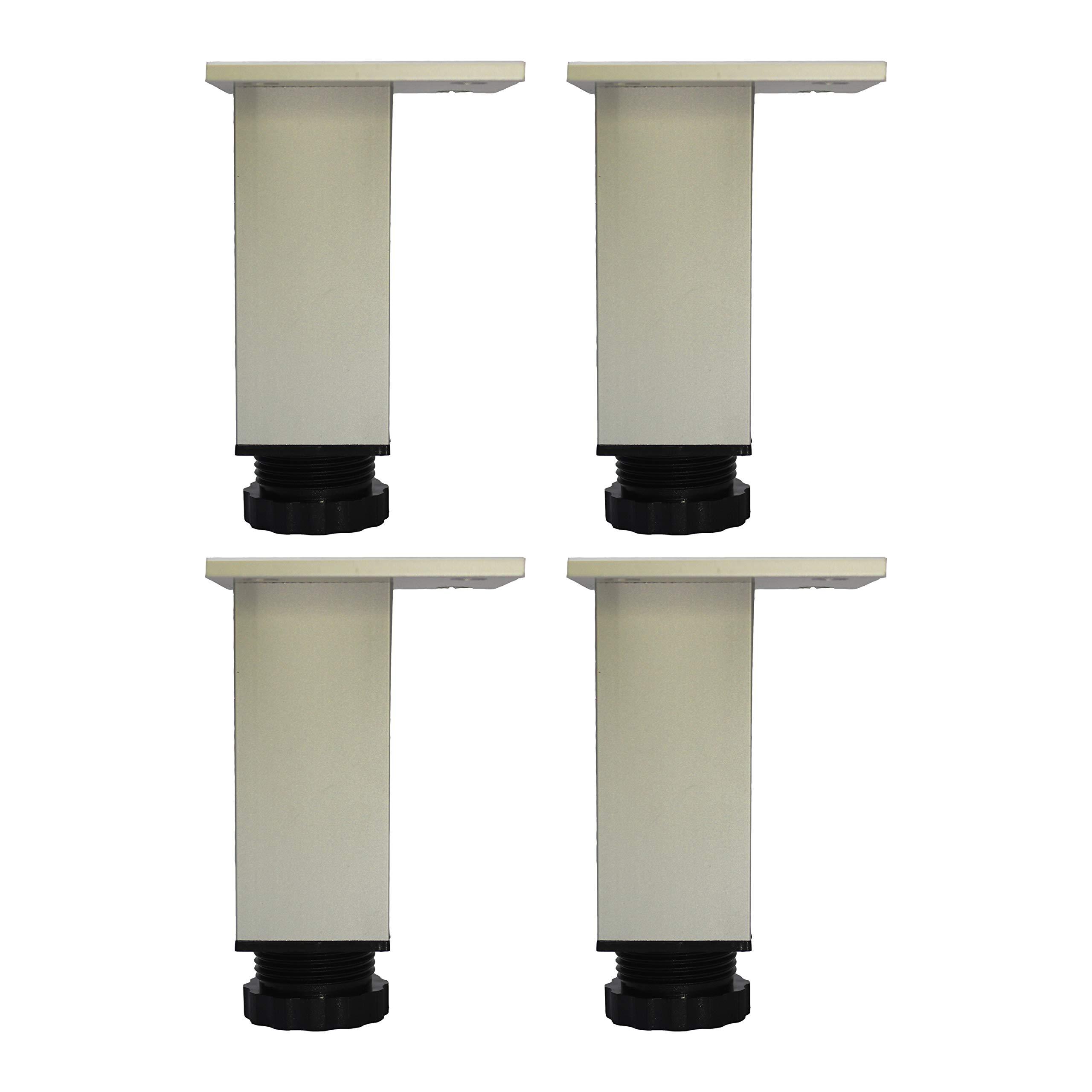 HUAYY Adjustment Height,Cabinet Aluminium Alloy Leveling Legs,Kitchen and Bathroom Use.