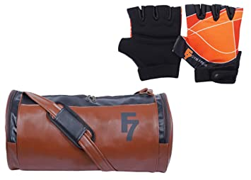 Image Unavailable. Image not available for. Colour  Fashion7 Duffle Leather  Gym Bag Combo Set - Duffle Sports ... 3332abc274035