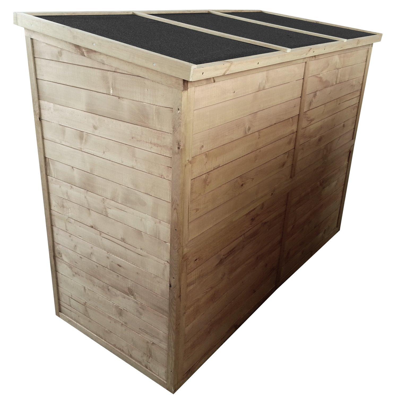 Moorland Caseta Bicicleta Box - 205 x 87 x 151 cm (Alto) - de Madera Maciza impermeabilizado - Aquí Tiene Todo su Espacio: Amazon.es: Jardín
