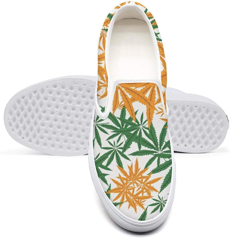 Colorful Marijuana Yin Yang Cannabis Leaf Mens Flat Bottom Unique Sneakers Training Shoes