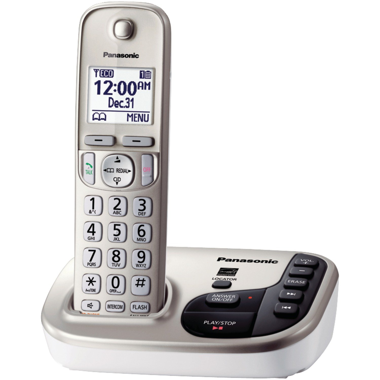 com panasonic kx tgdn dect expandable digital com panasonic kx tgd220n dect 6 0 expandable digital cordless answering system electronics