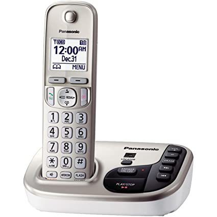 17dcd0a207f7 Amazon.com : Panasonic KX-TGD220N DECT 6.0 Expandable Digital Cordless  Answering System : Electronics