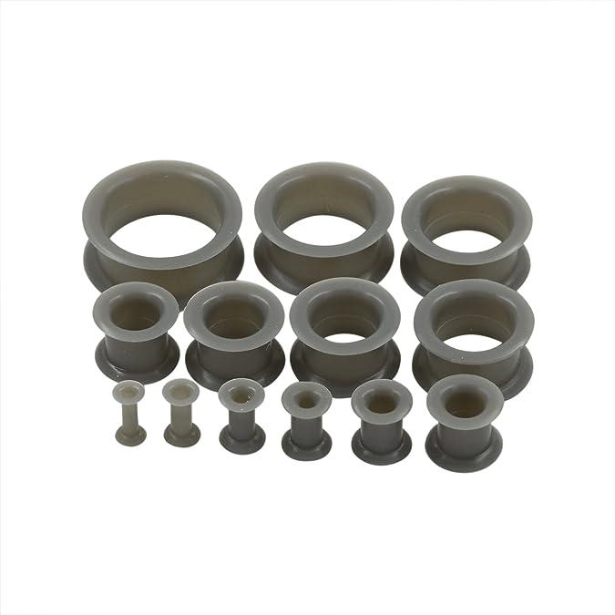 D&M Jewelry 10 Piezas de Silicona Espesa & Delgada 8g-1