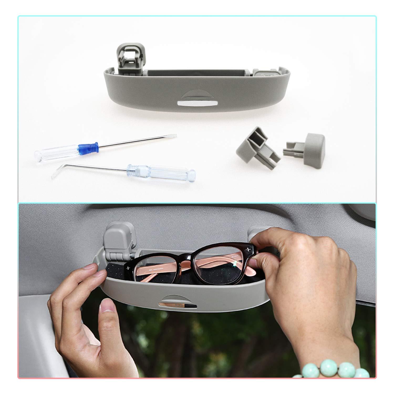 Grau Auto Brillenhalter Auto Glasses Case Holder Brillenetui K/äfig CDEFG Sonnenbrillenhalter Brillenetui f/ür Toyota CHR 2016-2020