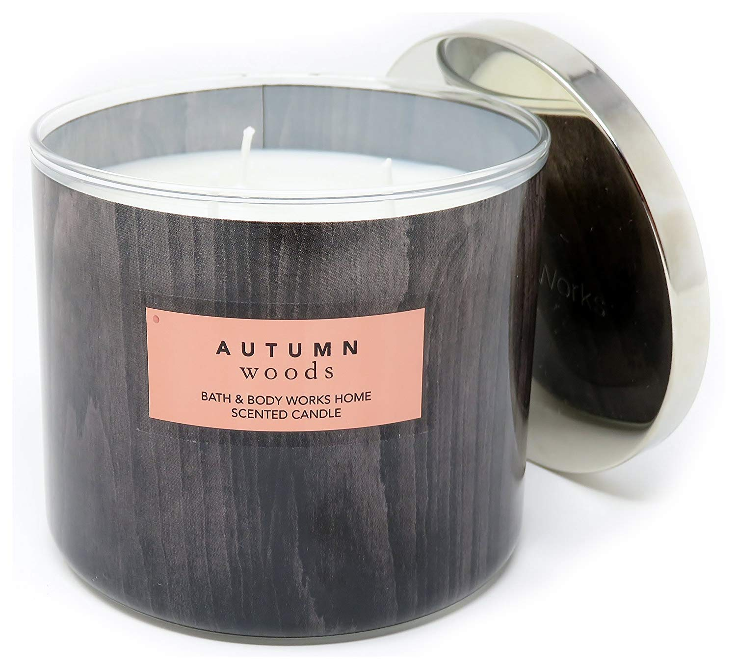 Bath & Body Works Autumn Woods Scented Candle 3 Wick 14.5 Ounce