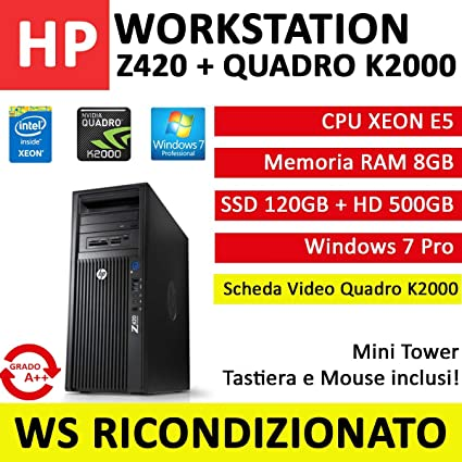 Workstation HP Z420 CPU Intel XEON, RAM 8 GB, SSD 120 GB ...