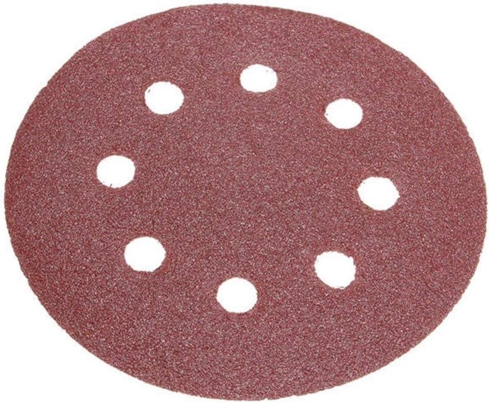 Nrthtri Sanding Paper 50pcs 5 Inch 8 Hole 80//120//180//240//320 Grit Sanding Disc Polishing Tool