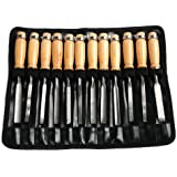 CSLU-Tool Wood Carving Tools Set - 12 Pieces Professional Wood Carving Chisels Hand Tool Kits with Storage Pouch