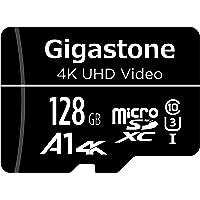 Gigastone Tarjeta de Memoria Micro SD 128 GB, Vídeo 4K UHD, Cámara de Vigilancia y Seguridad, Cámara de Acción, Drone…