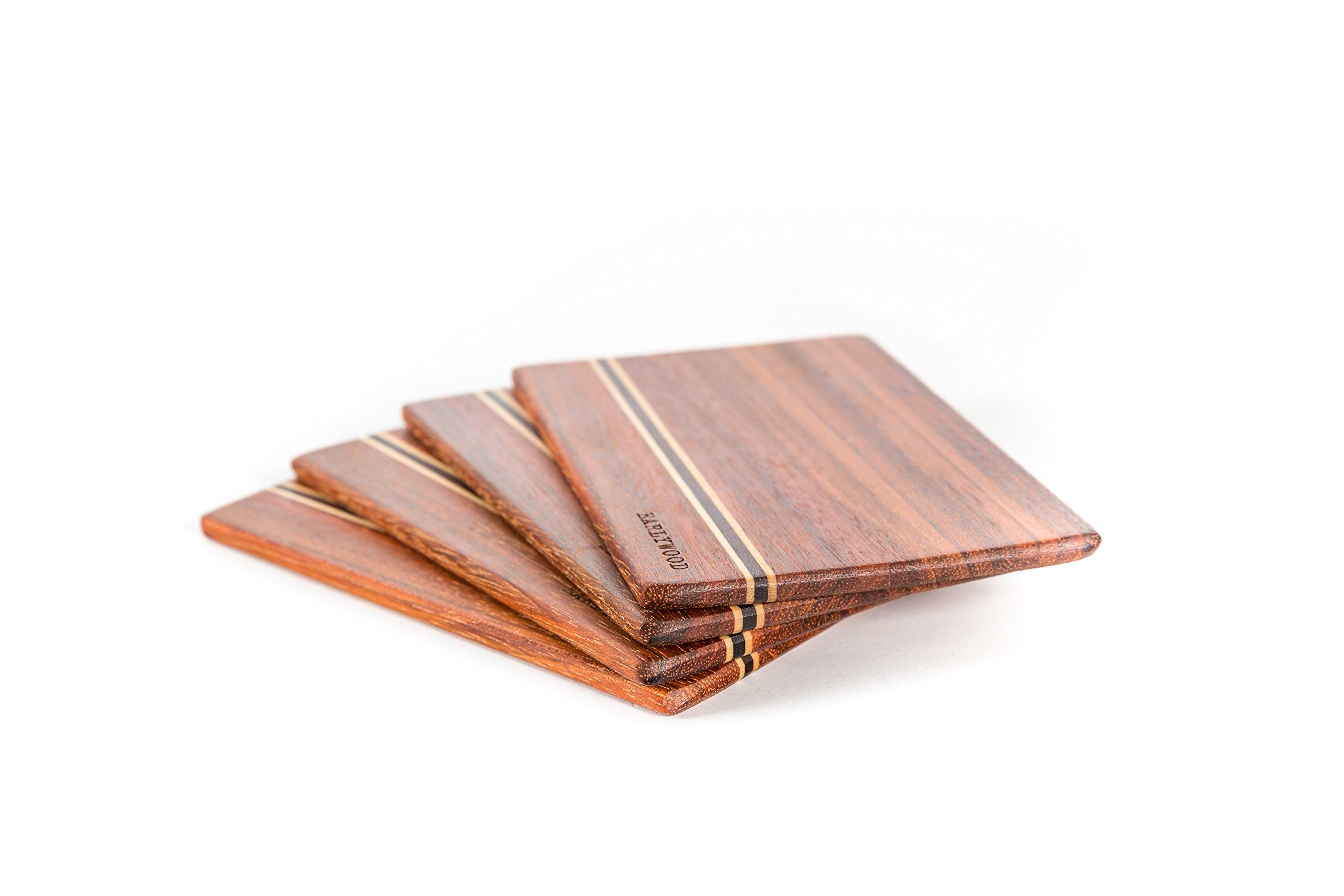 Small Wood Cutting Board Set. Set of 4 mini wooden cutting boards. Light and thin wood serving boards for wood cheese boards, spoon rests, trivets, wood serving set or bar cutting board set. The best! by Earlywood (Image #9)