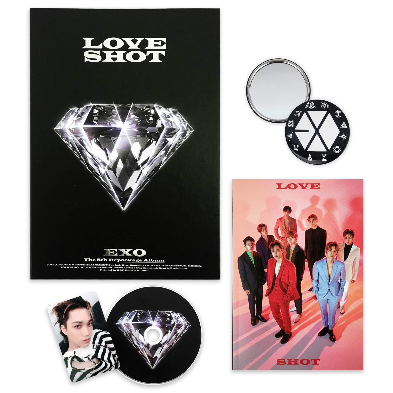 25 EXO 2nd Album Repackage Love Me Right D.O DO Type-A Photo Card K-POP