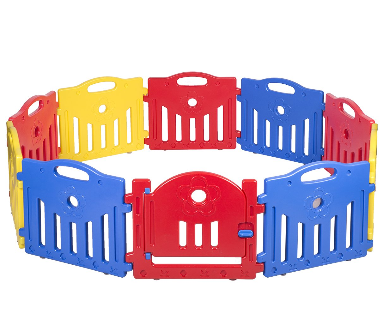 Baby Playpen PlaySafe Activity Center 10 Panel Adjustable Playard Kids w/Lock by FDW (Image #2)
