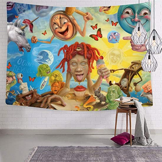 Redd-Trippie Tapestries High quality Interesting Durable 3D Print Wall Tapestry Bedside tapestry 59.1 x 82.7 Inch