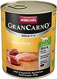 Animonda Gran Carno Hundefutter Sensitive Adult Reine Pute, 6er Pack