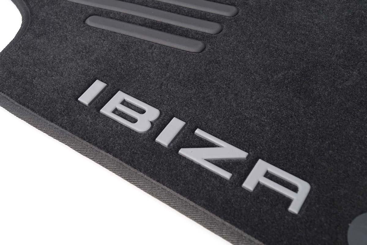 Tapis de voiture en velours 4pièces Rouge avec inscription kh Teile Original Seat tapis de sol–Ibiza 6J//6P