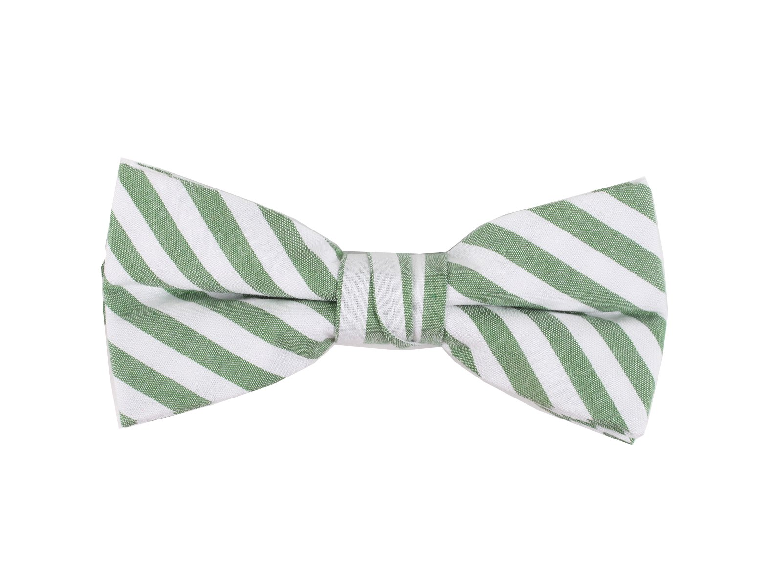 Born to Love - Boys Kids Pre Tied Adjustable Bowtie Christmas Holiday Party Dress Up (Medium, Green White Stripes)