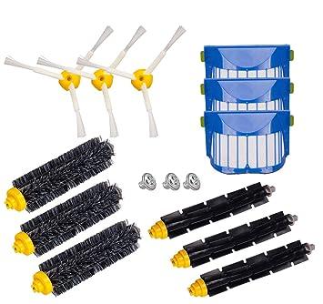 Hongfa Para iRobot Roomba 650, 620,655, 770,780,790 Robot aspiradora partes de reposición, honfa 12 pcs cepillo de recambio accesorios (600 y 700 series): ...