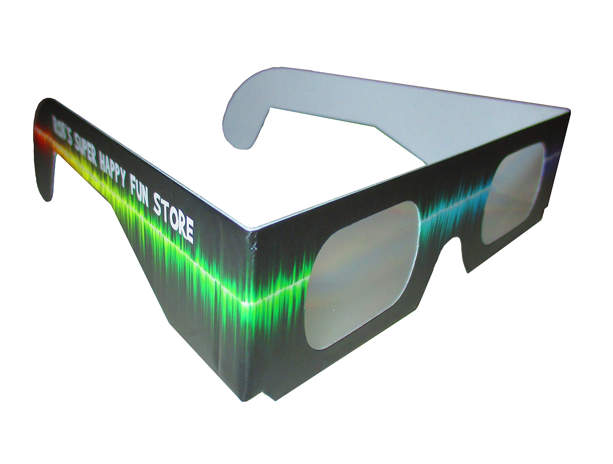 Fireworks Diffraction Glasses -25 Pair Rainbow Hearts (Plain White Frames) plus 25 Pair Starbursts (Rave Waves Frames) - 50 pack total - for Fireworks, Holiday Lights, Wedding Receptions, Rave Events by Rob's Super Happy Fun Store (Image #6)