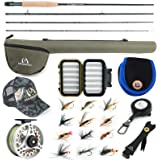 M MAXIMUMCATCH Maxcatch Extreme Fly Fishing Combo Kit 3/5/6/8 Weight, Starter Fly Rod and Reel Outfit, with a Protective Trav