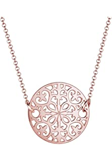 Elli Women 925 Sterling Silver Xilion Cut Necklace With Dream Catcher