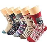 Warm Socks for Women, AIMKE 5 Pairs Casual Socks Cozy Socks, Knit Winter Fall Crew Socks