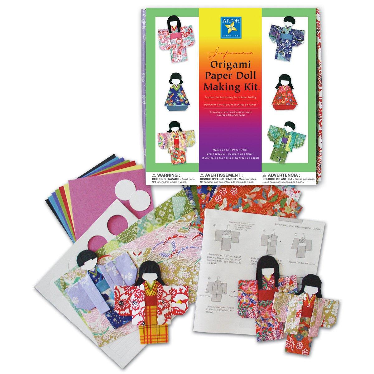 Aitoh Paper Kimono Doll Kit KM-KIT/8