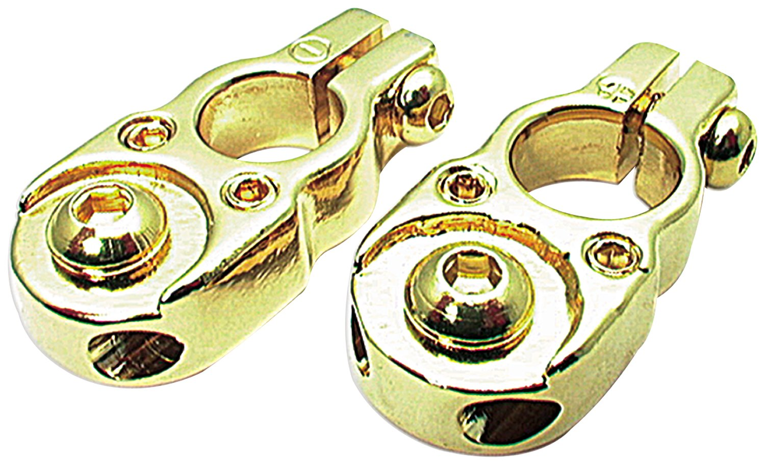Allstar ALL76120 24K Gold Solid Brass Top Mount Style Plated Battery Terminal