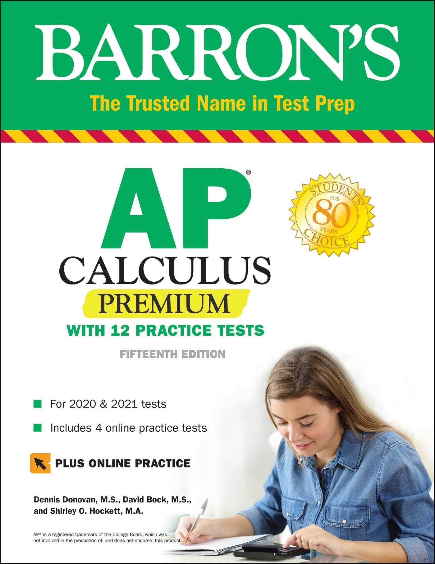 Image for AP Calculus Premium: With 12 Practice Tests (Barron's Test Prep)