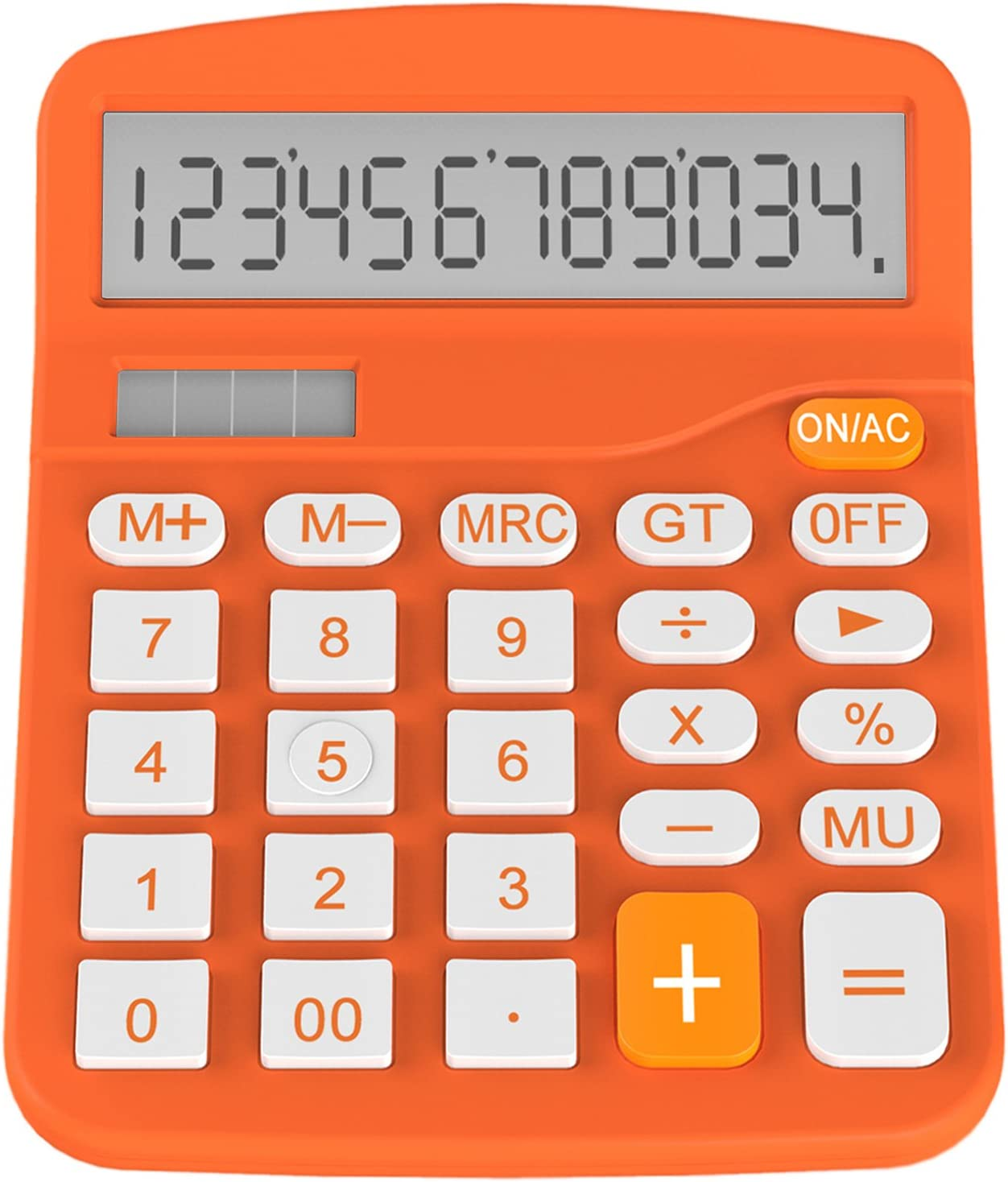Helect Calculator, Standard Function Desktop Calculator, Orange