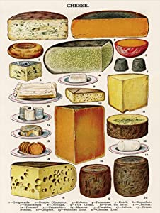 New York Puzzle Company - Vintage Images Cheese - 500 Piece Jigsaw Puzzle