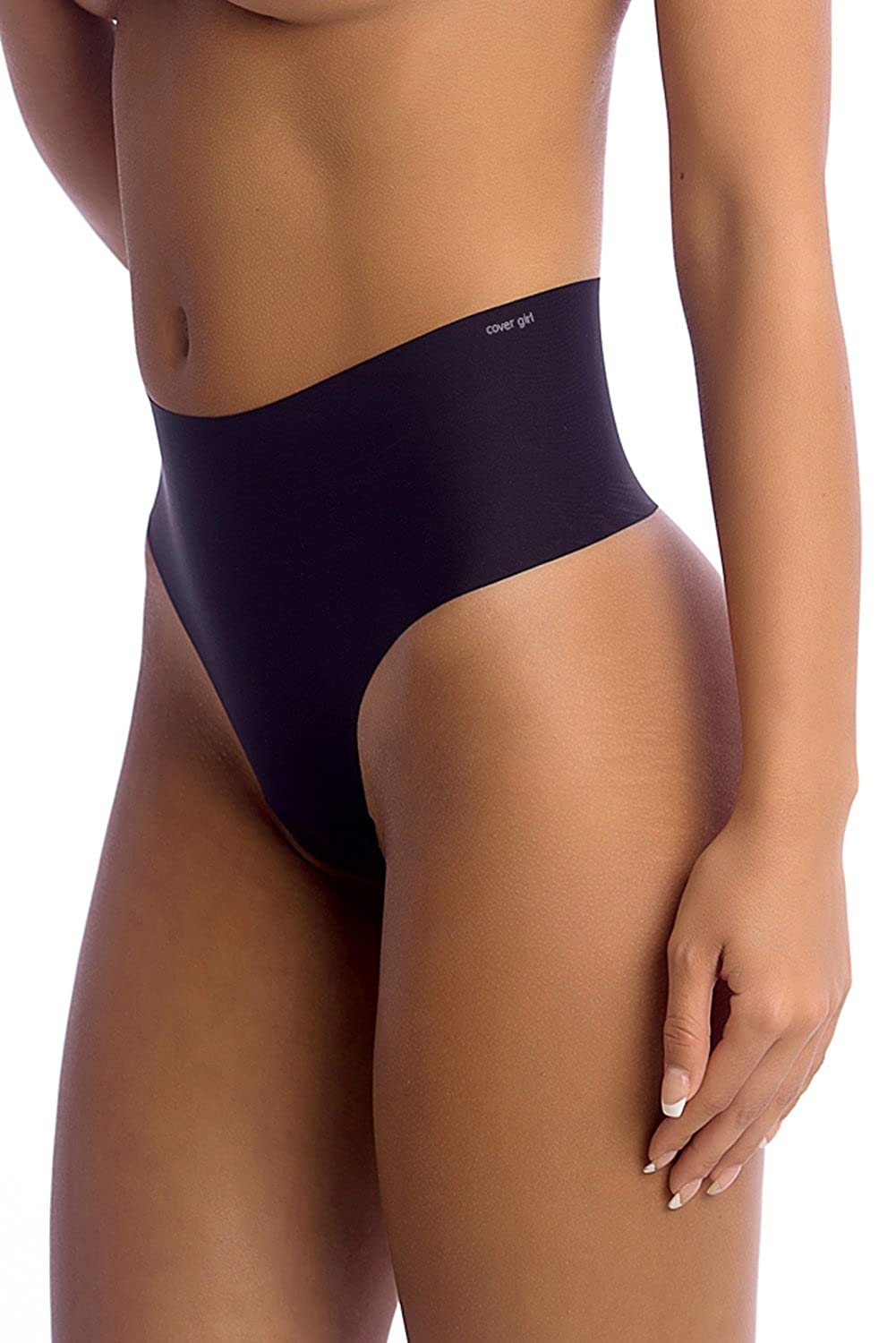 a9e2c52548d92 FIGURE-FLATTERING EFFECT: Smoothen out your tummy while still feeling  supremely sexy with CoverGirl Shapewear's high waisted thong underwear.
