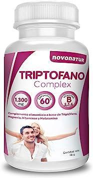 Triptofano con magnesio y vitamina b6, mas melatonina, espirulina, vitamina B3 y B5, 60 comprimidos de 1.300 mg. Antiestres natural, contra la ansiedad natural, propulsor de serotonina natural: Amazon.es: Salud y cuidado