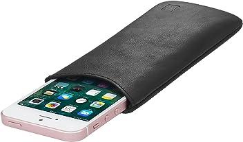 StilGut Housse Universelle pour téléphone Portable en Cuir Nappa Doux Taille S, Noir Nappa
