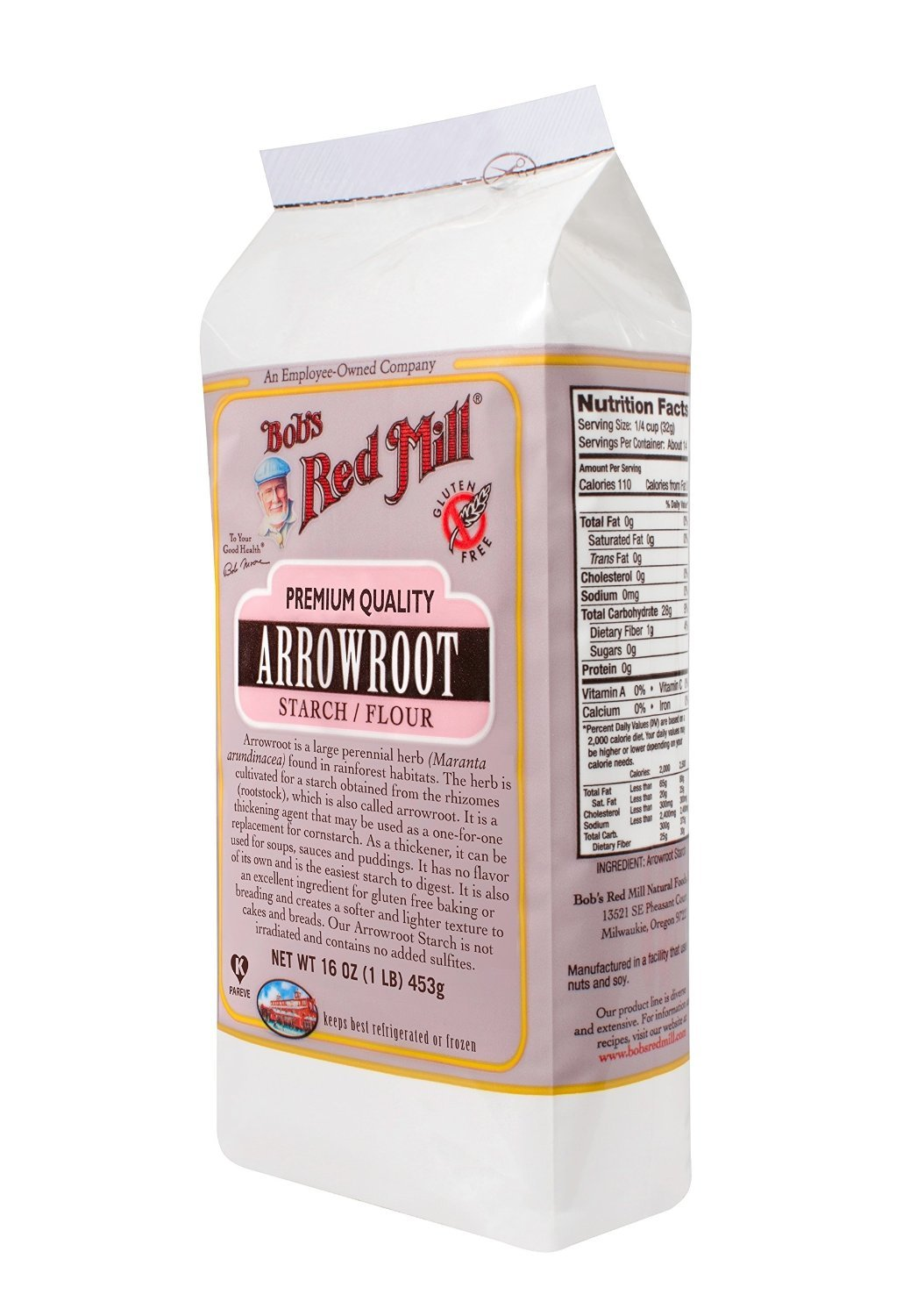 Bob's Red Mill, Arrowroot Starch Flour, 16-ounce Packages (Pack of 2)