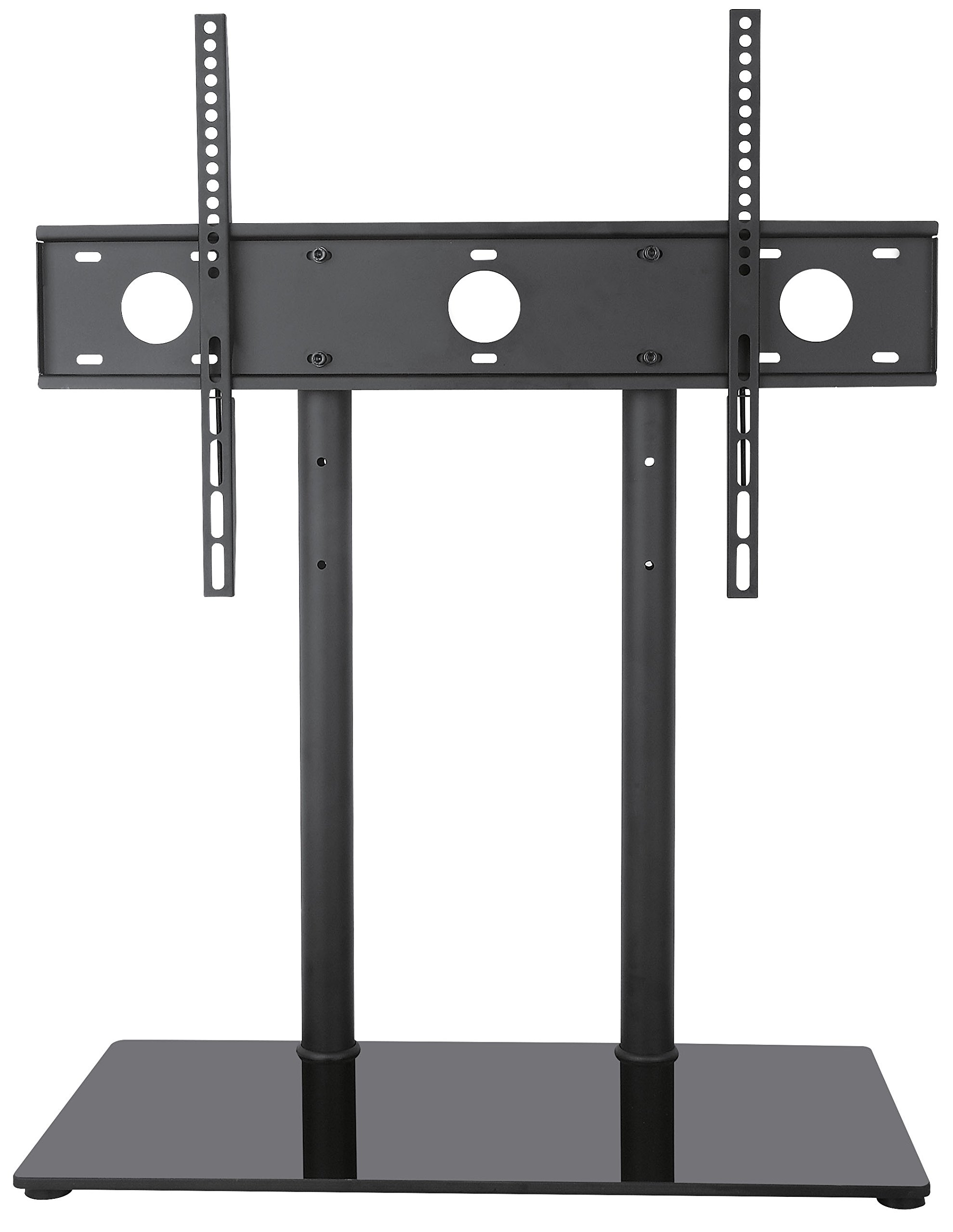 glass tv base product universal table black rakuten vivo lcd pedestal stand flat top screen w for freestanding shop
