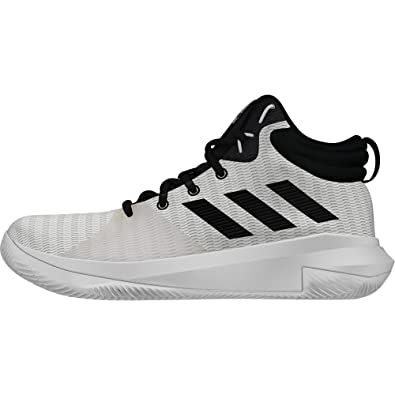 sports shoes 3517d c505e adidas Pro Elevate 2018 Chaussures de Basketball Homme, Blanc (FtwblaNegbás Griuno