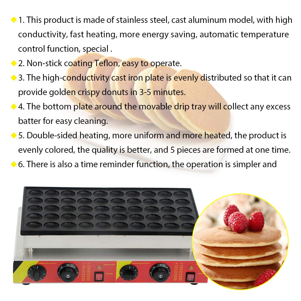 Muffin Making Machine Commercial Electric Non Stick Muffin Machine 50 Pieces Muffin Equipment for Home Cake Shop Restaurant 110V 1600W by CARIHOME (Image #7)