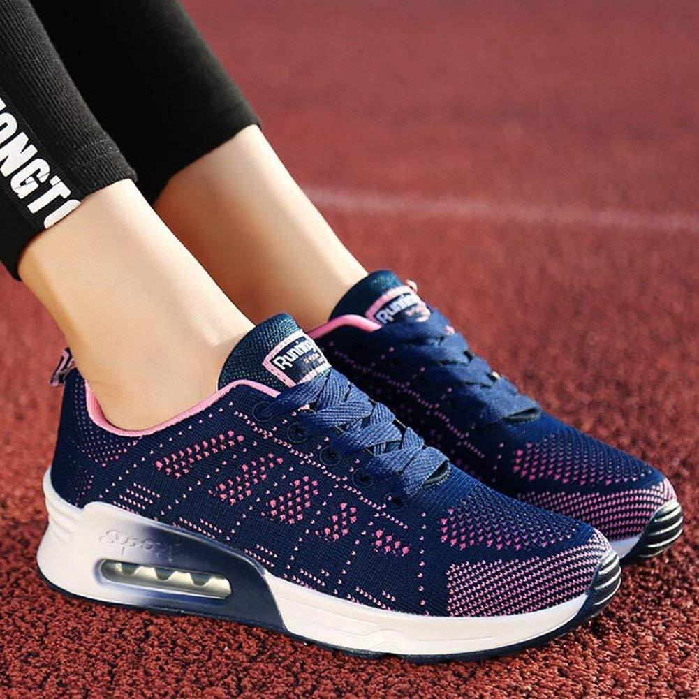 Damen Sportschuhe LaufTurnschuhe Turnschuhe Luftkissen Fitness Fitness Fitness Athletic Walking Gym Sommer Atmungsaktive Schuhe Outdoor Casual Rutschfeste Turnschuhe (Farbe   C Größe   40) d8c73e
