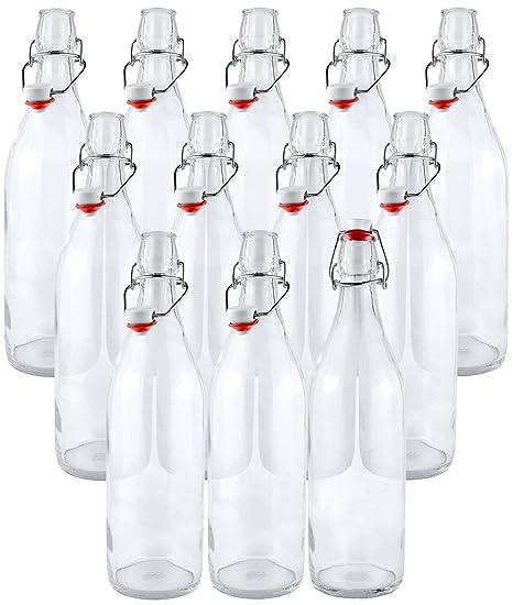 Amazoncom Estilo Swing Top Easy Cap Clear Glass Beer Bottles