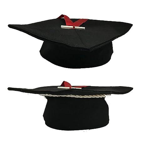 Tocco di laurea - cappello da laureato lusso in tessuto. laurea nero ... e527a303dbe7