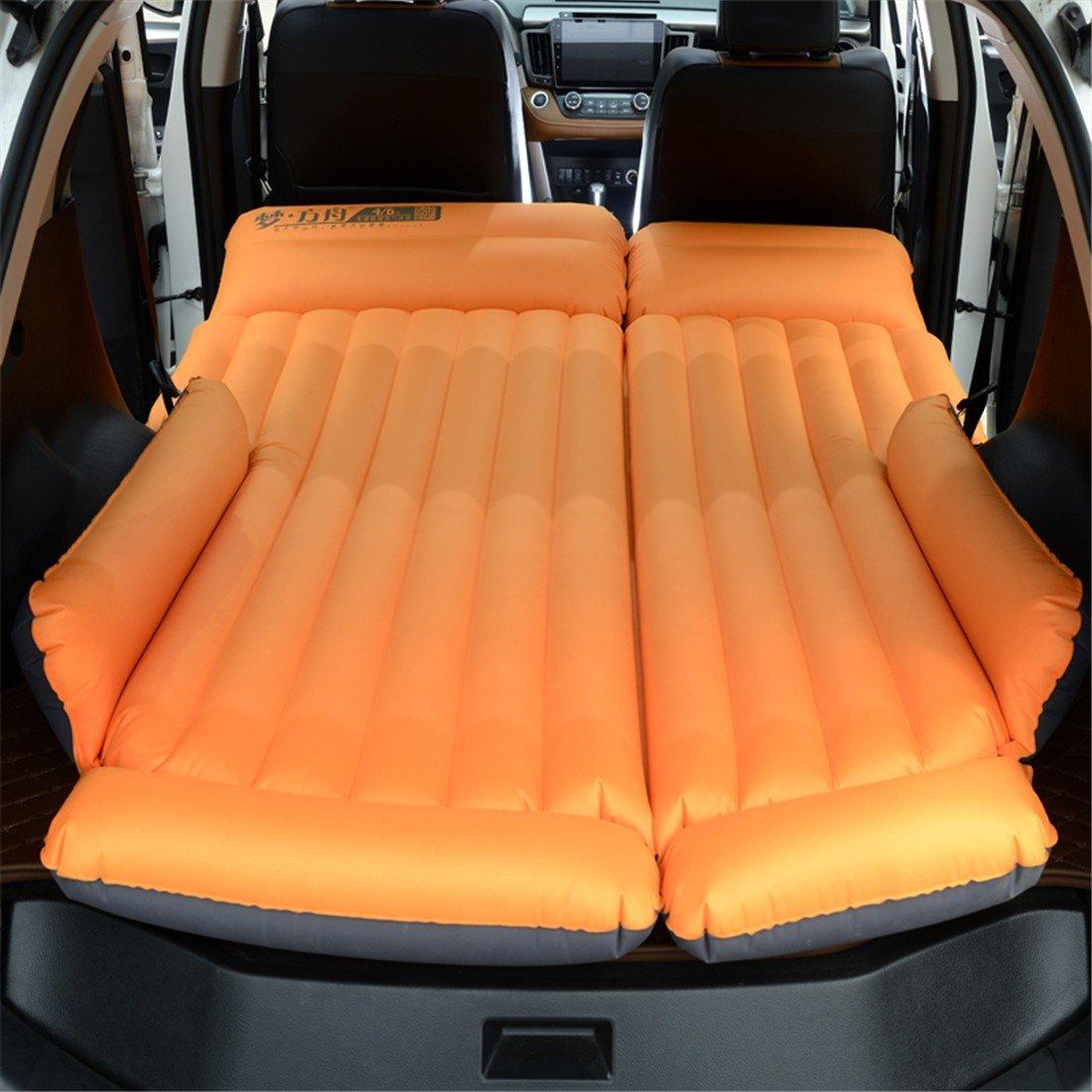STAZSX SUV Auto Bett Auto Erwachsenen Schlafwagen Auto Reisebett, Oxford Tuch Orange-135x78CM