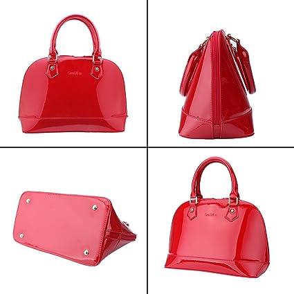 Amazon.com: aooher Womens Pure Color PU piel Boutique bolsa ...