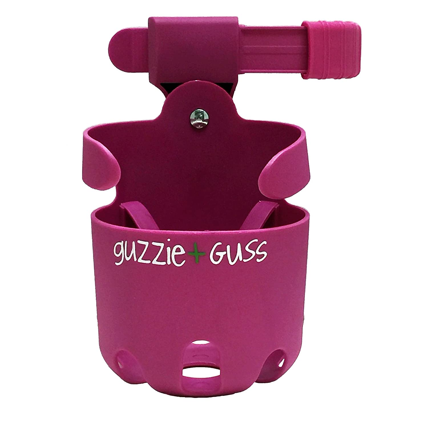 for Strollers guzzie+Guss Universal Cupholder Wheelchairs Install with Anti-Slip Sleeve Pink No Tool Easy Mobility Walkers Fits Wide Variety of Drink Containers Camping Chairs Bikes