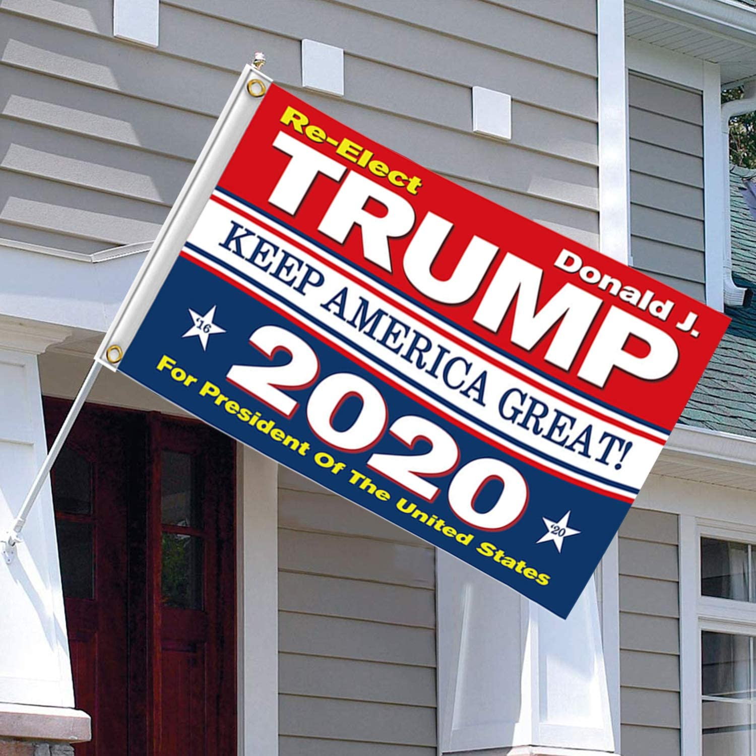 Kithwaro 4 Pieces Donald Trump 2020 Flags, President Donald Trump Tank Flag 2020 Keep America Great Flag with Grommets for US Election Patriotic Outdoor Indoor Decoration Banner, 3x5 Feet : Garden & Outdoor