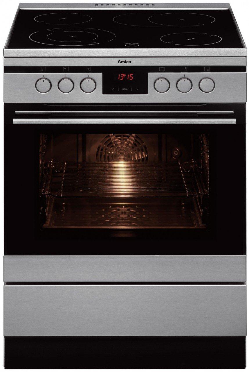 Amica SHC 11675 E - Cocina (Integrado, Negro, Acero inoxidable ...