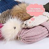 Kids Winter Knitted Pom Beanie Bobble Hat Faux